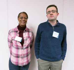 Roslyn Avant and Patrick McCarthy at the Boston Teachers Union Digitizing Day