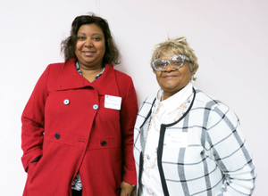 Jannell Pearson-Campbell and Fannie Pearson at the Boston Teachers Union Digitizing Day