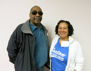 James Philip and Maritza Agrait at the Boston Teachers Union Digitizing Day