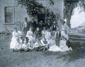 Gathering at grandmother Wood's home