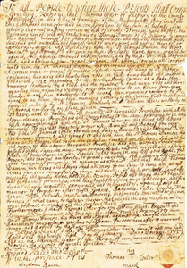 1737 deed to the home of Thomas Damon