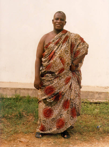 Father in traditional dress from Ghana