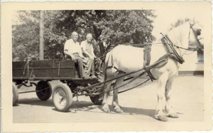 Grampy--horse and wagon