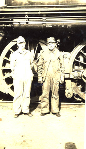 B & M Railroad fireman & engineer
