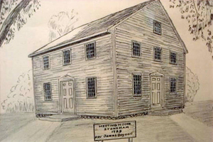 1729--the First Meetinghouse of Stoneham, which became the First Congregational Church