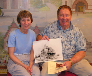 Chris Willis and Joan Willis at the Quincy Mass. Memories Road Show