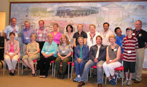 Volunteers and staff at the Quincy Mass. Memories Road Show
