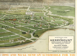 Bird's eye view of Merrymount