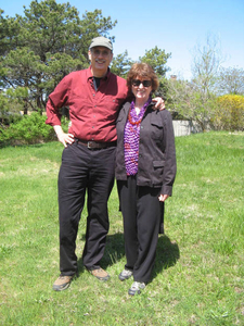 Mary Ann Larkin and Patric Pepper, who live at 12 Pond Road, Truro, in the summer 2009