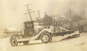 Old state snow plow in N. Truro (1)