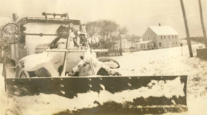 Old state snow plow in N. Truro (2)