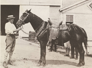 C. W. Snow with horse
