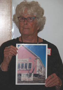 Diana Worthington at the Truro Mass. Memories Road Show