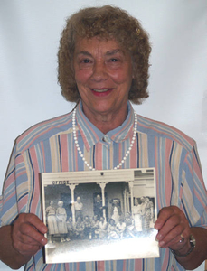 Beverly Wolff at the Truro Mass. Memories Road Show