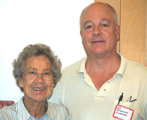 Stephen Currier and Evelyn Currier at the Truro Mass. Memories Road Show
