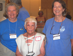 Maria Dias, Margueritte Krupp and Mary Hutchings at the Truro Mass. Memories Road Show