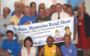 Volunteers and staff at the Truro Mass. Memories Road Show