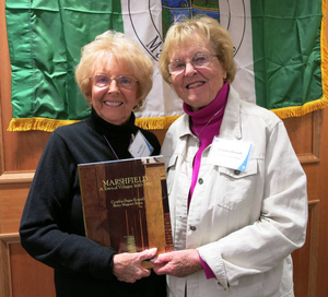 Betty Bates and Cynthia Krussell at the Marshfield Mass. Memories Road Show