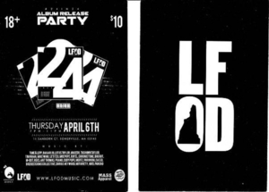 LFOD #24 in 24 album release flyer