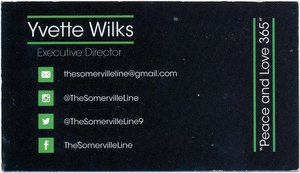 The Somerville line business card