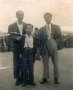 Second generation coming to the United States, father with brother