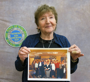 Barbara Haber at the Winchester Mass. Memories Road Show