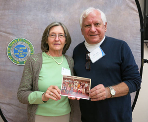 Ernestine Ravanis and Tom Sevigny at the Winchester Mass. Memories Road Show
