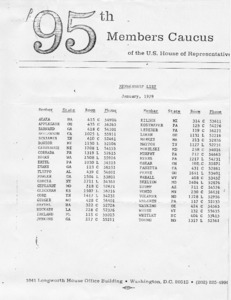 95th Members Caucus of the U.S. House of Representatives