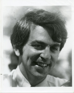Black and white photograph of Paul Tsongas