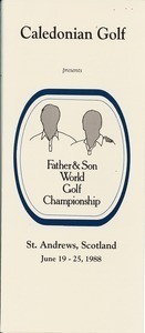 Caledonian Golf Father and Son World Golf Championship brochure