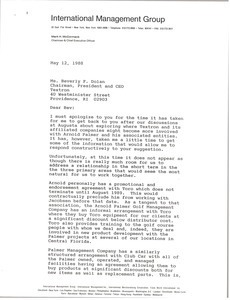 Letter from Mark H. McCormack to Beverly F. Dolan