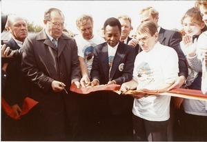 Mayor of Moscow, Pele, and Swedish Ambassador