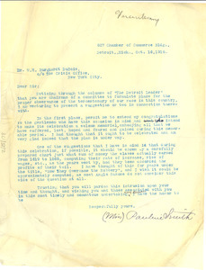 Letter from Pauline Smith to W. E. B. Du Bois