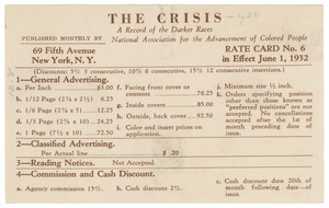 Crisis ad rate card