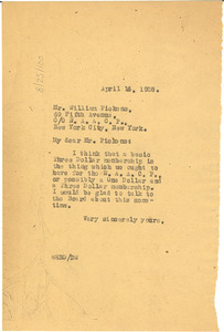 Letter from W. E. B. Du Bois to the NAACP