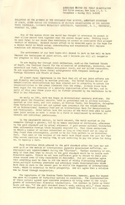 Address by Dean Acheson given at the conference of private organizations on the Bretton Woods proposals