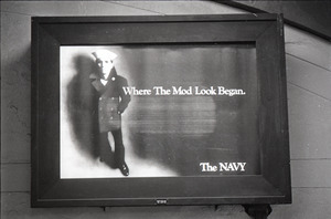 Advertisement for the US Navy, 'where the mod look began'