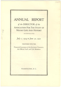 Annual report of the director of the Association for the study of Negro Life and History