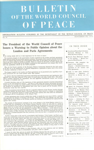 Bulletin of the World Council of Peace, number 22