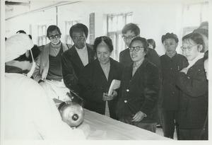 Shirley Graham, David Du Bois and Bernard Jaffe on a factory tour