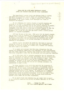 Appeal for the sixth world conference against atomic and hydrogen bombs and for total disarmament