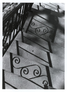 Curlicue shadows on stairs