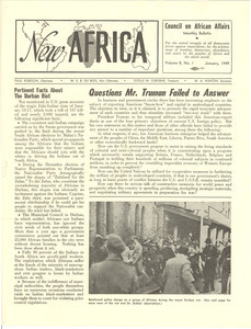 New Africa volume 8, number 1