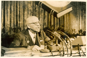 W. E. B. Du Bois addressing the Afro-Asian Writers Conference, Tashkent