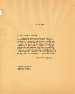 Letter from W. E. B. Du Bois to H. Kranold