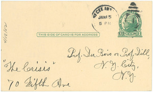 Letter from A. S. Steele to W. E. B. Du Bois and Augustus Granville Dill