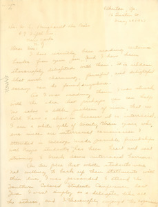 Letter from the Beth Torrey to W. E. B. Du Bois