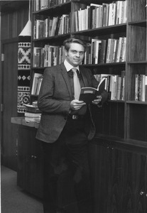 Dwight W. Allen with books