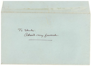 Envelope addressed to Shirley