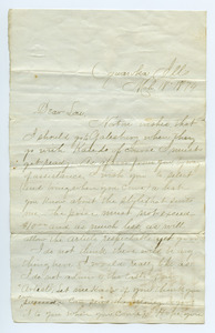 Letter from Florence Boden to Louise Gass